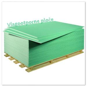 impregnirana suha gradnja -vlagootporna gips-kartonska ploča