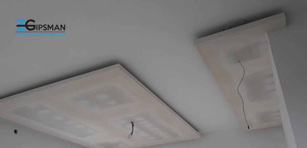 Spušteni stropovi - suha gradnja - ZGipsman - Zagreb